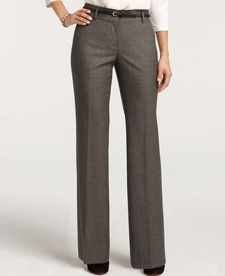 Ann Taylor Curvy Brushed Tweed Trousers