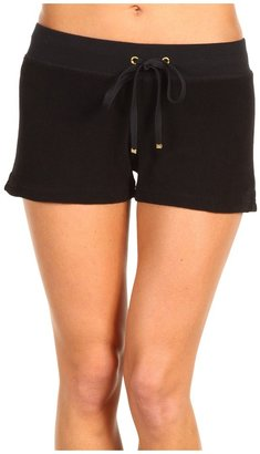 Juicy Couture Micro Terry Drawstring Short (Black) - Apparel