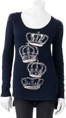 Rock & Republic crown embellished sweater - women's