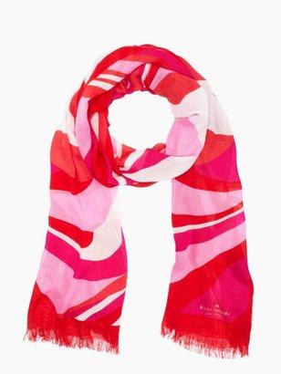 Kate Spade Carnival swirl rectangle scarf