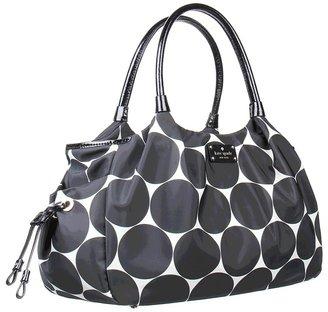 Kate Spade Deborah Dot Nylon Stevie Baby Bag (Black/Clotted Cream) - Bags and Luggage