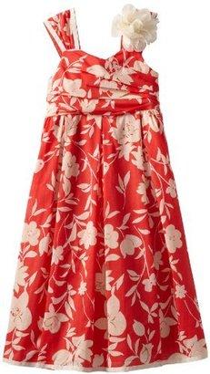 Bonnie Jean Girls 7-16 Coral Floral Print Dress