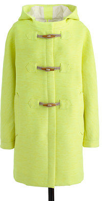 J.Crew Collection basket-weave toggle coat