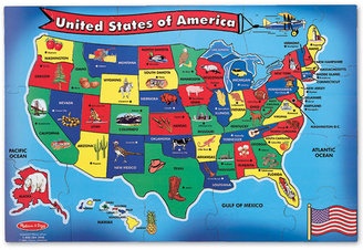 Melissa & Doug Toy, U.s.a. Map Floor (51 pc)