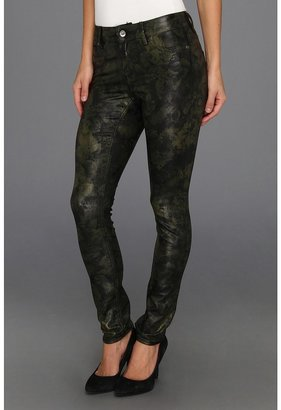 Vince Camuto TWO by Tonal Floral Straight Leg Jean in Dark Leaf (Dark Leaf) - Apparel