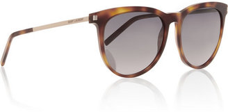Saint Laurent Round-frame acetate sunglasses