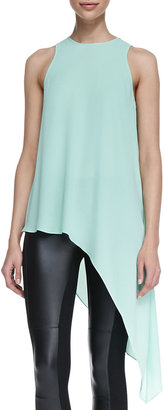 BCBGMAXAZRIA Kenda High-Low Asymmetric Blouse