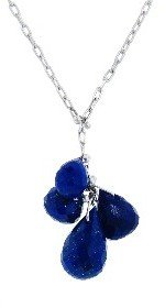 Ten Thousand Things Small Lapis Cluster Necklace - Sterling Silver