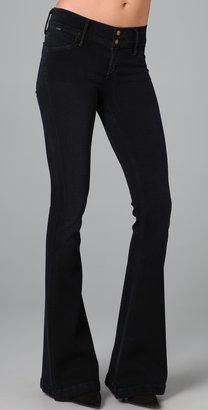 Gold Sign Sissi Platform Flare Jeans