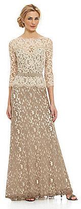 Tadashi Shoji Two-Tone Lace Gown $368 thestylecure.com