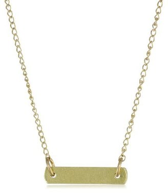 Dogeared Jewels and Gifts Gold Keep It Simple Bar Necklace