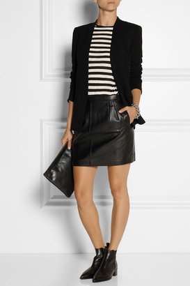 BLK DNM 20 leather mini skirt