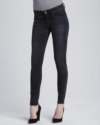 Blank Instaglam Studded Skinny Jeans, Black