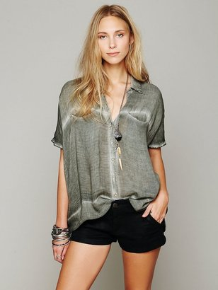 Free People Oversize Button Down