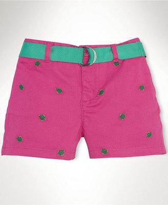 Ralph Lauren Shorts, Baby Girls Schiffli Chino Shorts