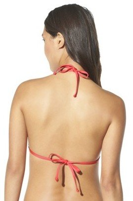 Mossimo Women's Mix and Match Chevron Triangle Swim Top -Smacking Coral