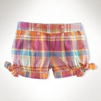 Side-Tied Madras Short
