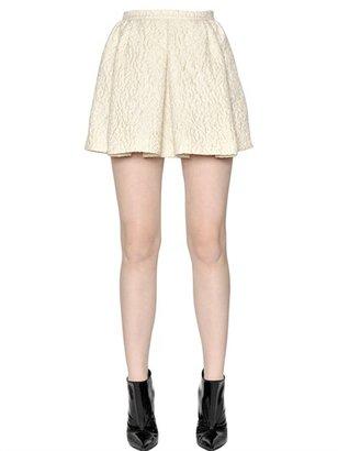 Giambattista Valli Pleated Techno Jacquard Skirt