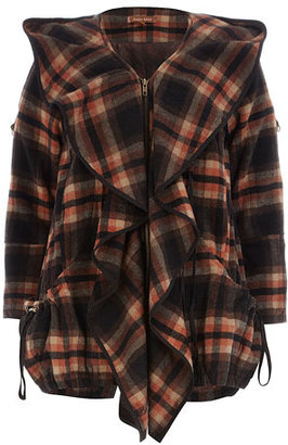 Dorothy Perkins Brown check wool coat