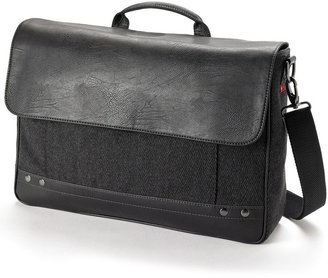 Relic herringbone laptop messenger bag