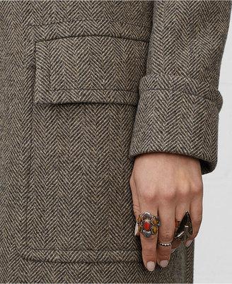 Denim & Supply Ralph Lauren Double-Breasted Herringbone Trench Coat