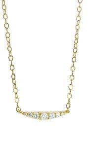Ila&I Luna with Diamonds - Designer Yellow Gold Necklace