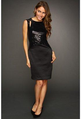Vince Camuto Sequin Cutout Dress VC2X1864 (Black) - Apparel