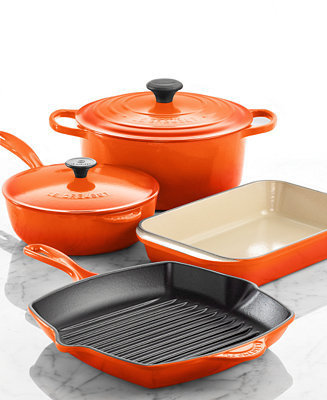 Le Creuset Signature Enameled Cast Iron 6 Piece Cookware Set