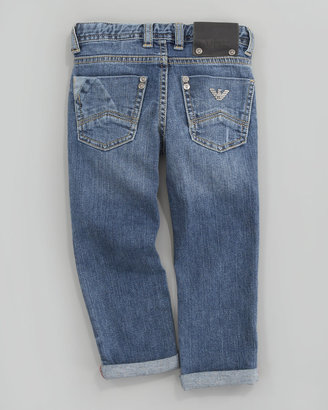 Armani Junior Washed Denim Jeans