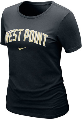 Nike Women's NCAA T-Shirt, Army Black Knights Arch Graphic Tee