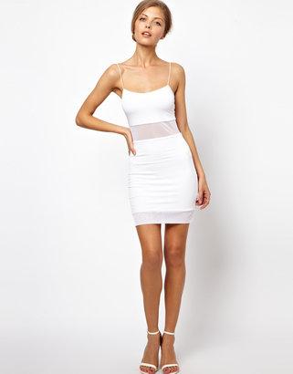 Asos Sheer Panel Mini Dress