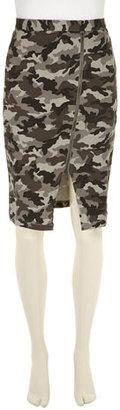 Dorothy Perkins Grey camouflage midi skirt