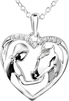 FINE JEWELRY ASPCA Tender Voices Diamond-Accent Woman & Horse Heart Pendant Necklace $208.32 thestylecure.com