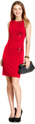 Style&Co. Dress, Sleeveless Ponte Twist Sheath