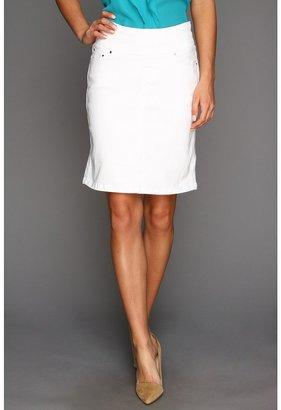 Jag Jeans Maddock Pull-On Denim Skirt in White (White) - Apparel