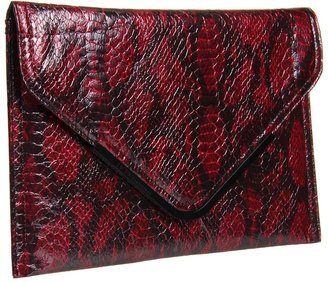 BCBGMAXAZRIA BCBGeneration - Anise Clutch (Wine) - Bags and Luggage