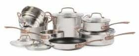 Cuisinart Metal Expressions Stainless Steel 12-Piece Cookware Set - Induction Ready