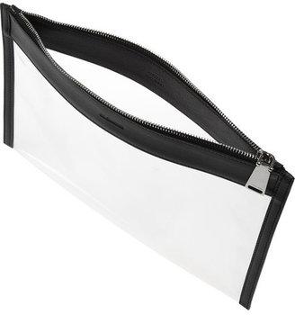 Jil Sander Leather-trimmed PVC clutch