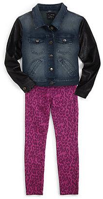 Joe's Jeans Toddler's & Little Girl's Nikita Faux Leather-Sleeved Denim Jacket