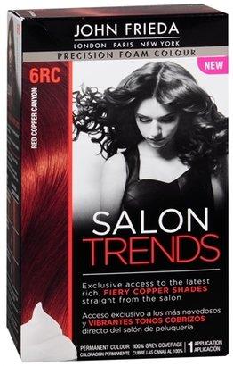 John Frieda Precision Foam Color Salon Trends Permanent Hair Color Red Copper Canyon