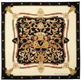 Aspinal of London Signature Shield Silk Scarf