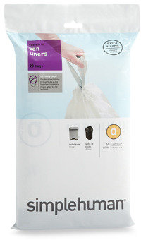 Simplehuman Code Q Custom Fit 50-Liter Can Liners (20-Pack)