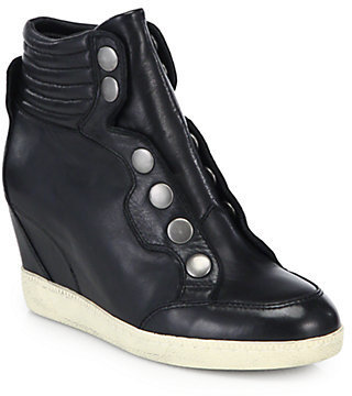 Ash Blade Leather Wedge Sneakers