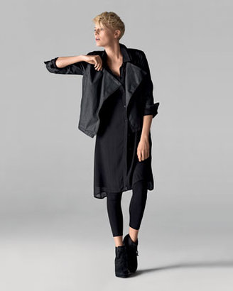 Eileen Fisher Sheer Silk Georgette Tunic/Dress, Petite