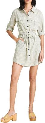 Veronica Beard Jeans Alyse Check Button-Down Dress