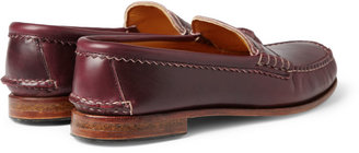Quoddy True Penny Leather Loafers