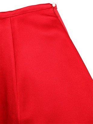 Double Silk Gabardine Mini Skirt