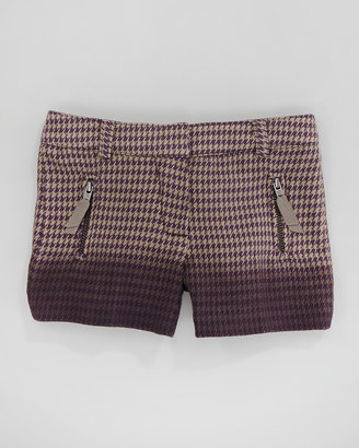 Lili Gaufrette Houndstooth Ombre Shorts, Sizes 2-6