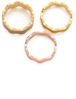Gorjana Zigzag Enamel Triple Ring Set