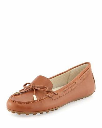 MICHAEL Michael Kors Daisy Leather Moccasin Loafer, Luggage $99 thestylecure.com